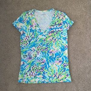 Lilly Pulitzer Tops - Lilly Pulitzer Michele Top Sea Soiree